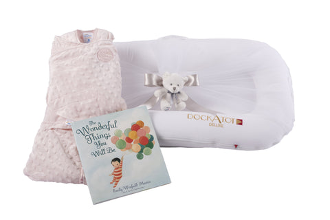 dockatot baby shower gift for baby girl personalization available by the baby gift box