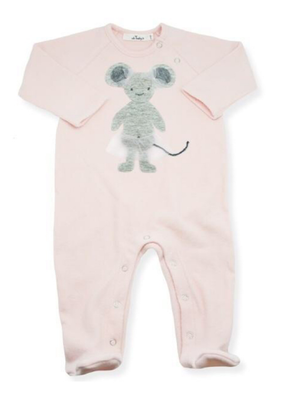 Layette Collection | Footie Onesie Ballerina Mouse | Oh Baby! | Pink