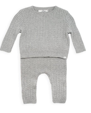 Layette Collection | Cashmere Cable Knit 2 Piece | Oh Baby