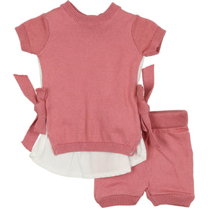 Baby Girl 2 Piece Set | Vintage Bloom | Rose | Mon Tresor Bebe SS21