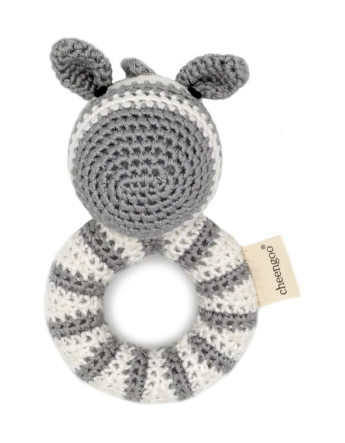 Zebra Crocheted Rattle | Cheengoo