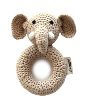 Elephant Crocheted Rattle | Cheengoo