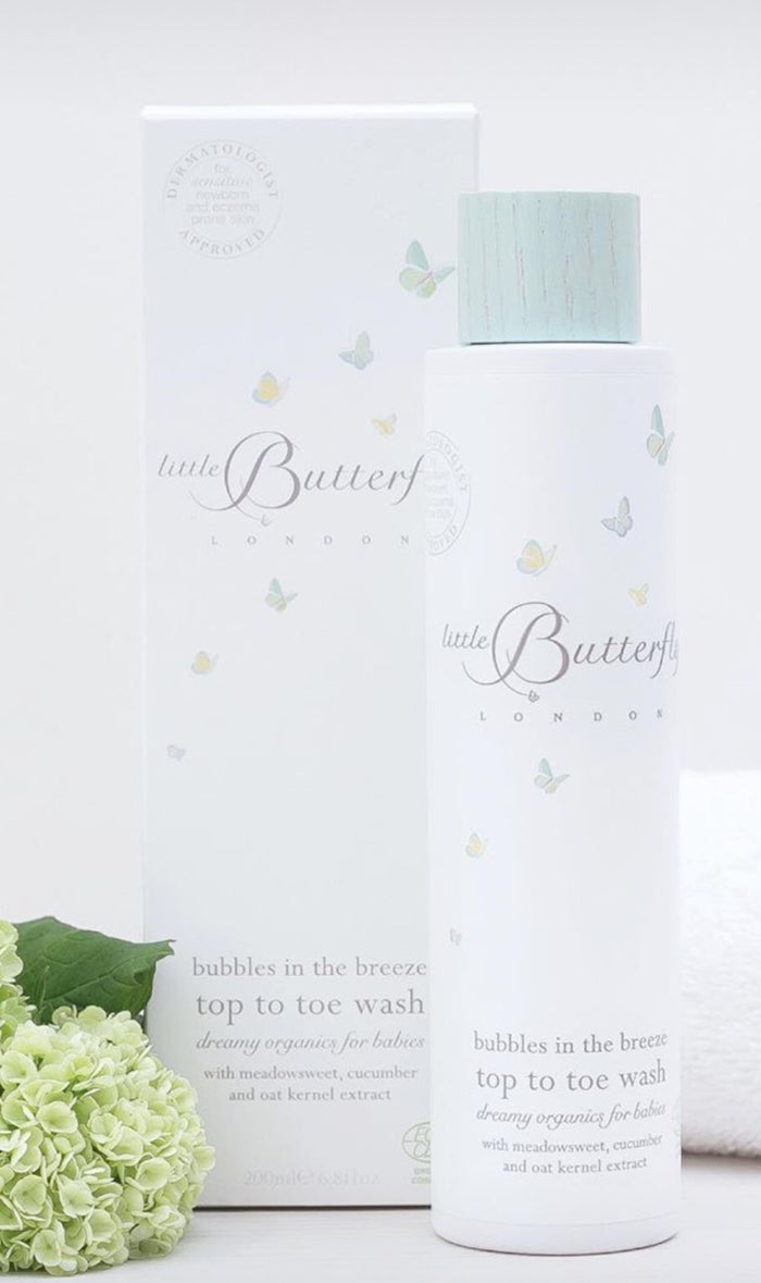 Organic Baby Body Wash | Bubbles in the Breeze | Little Butterfly London