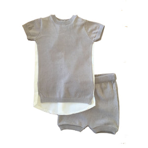 Baby Boy 2 Piece Set | Vintage Bloom | Heather Grey | Mon Tresor Bebe SS21