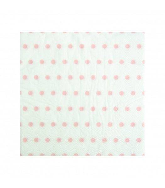 30 Guardanapos Swiss Dots Rosa