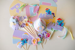 Kit de Festa Poney Impresso {BASE}