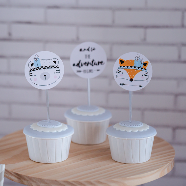 12 Cupcake Toppers Tribo