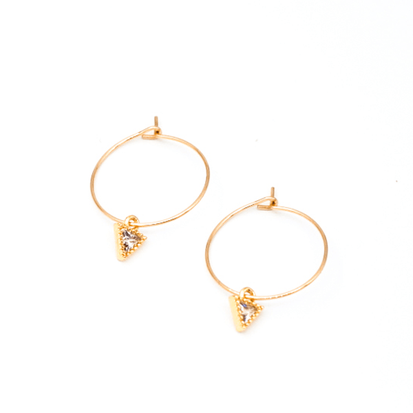 Triangle CZ Earrings