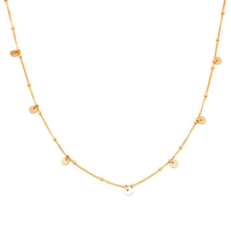 Dotted Chain with Seven Coin Necklace