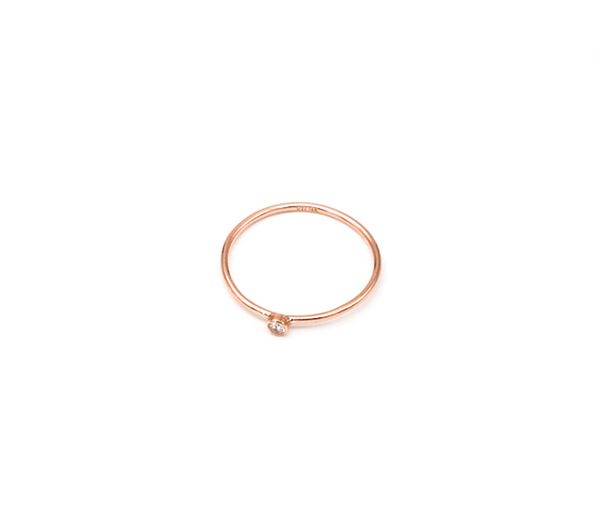 Rose Gold Filled CZ Stacking Rings