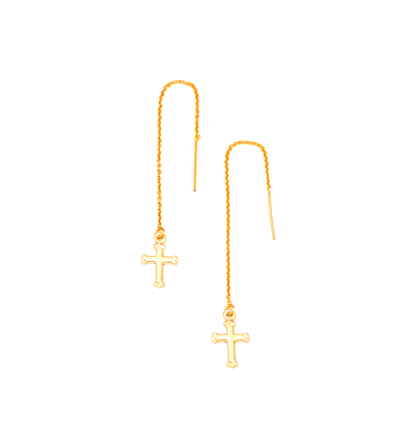 Cross Threader Earrings