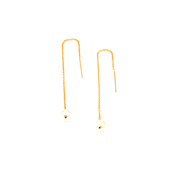 Pearl Pull-Thru Earrings