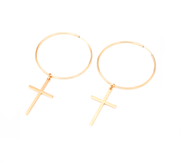 Large Cross Hoops