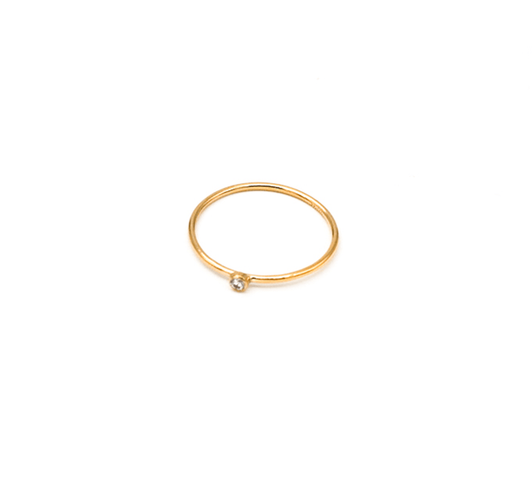 Gold Filled CZ Stacking Rings