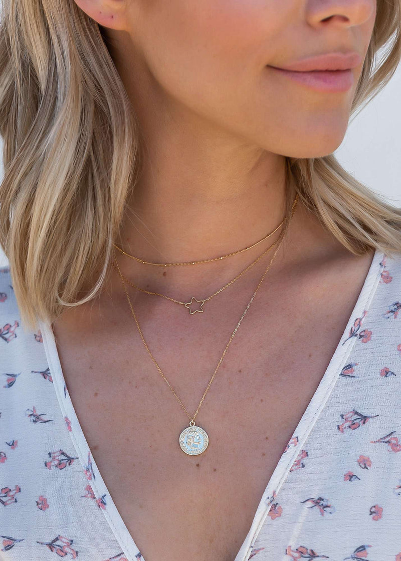 Round Coin Necklace