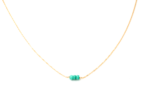 Mini Turquoise Three Bead Bracelet (Kid's Size)