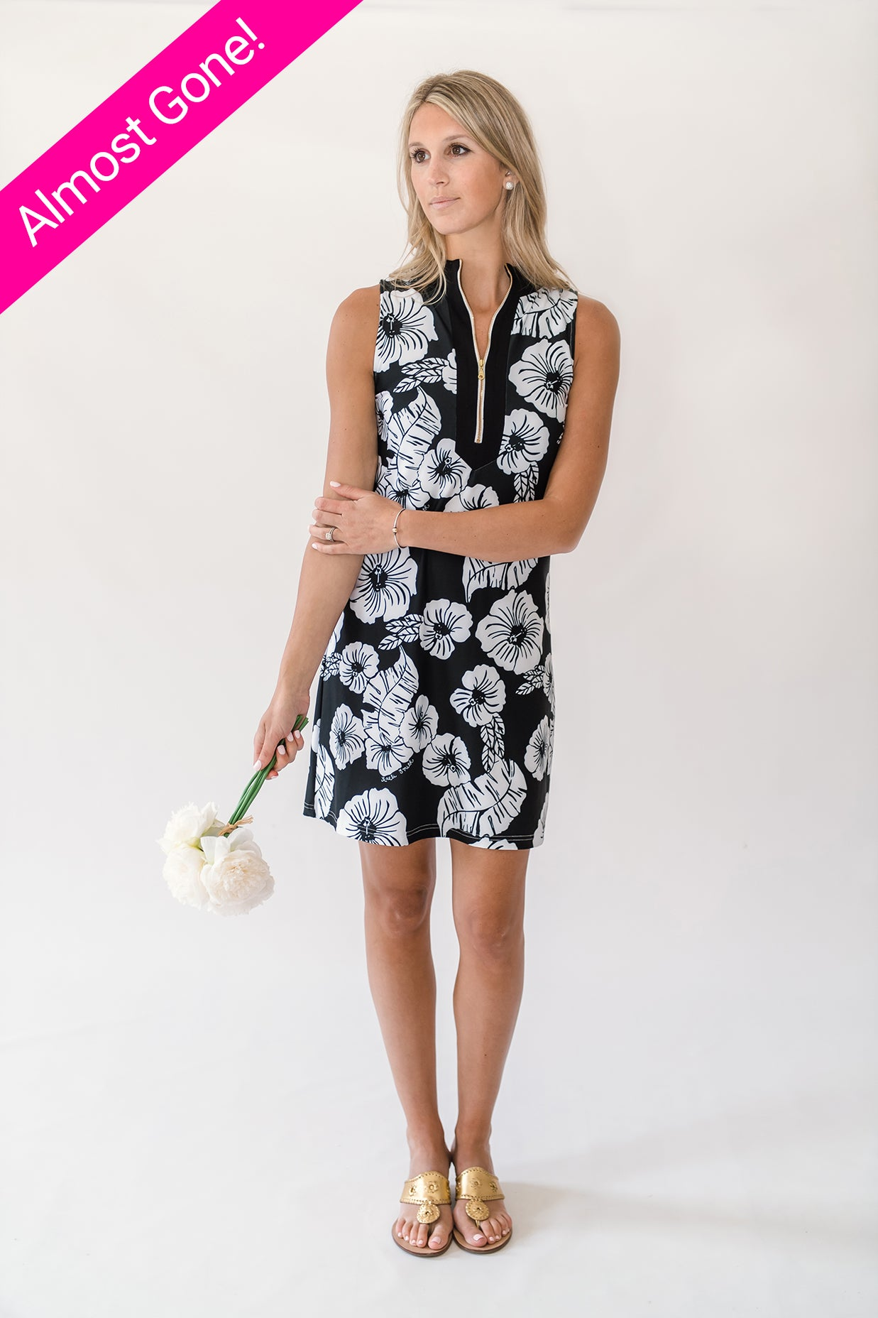 Addie Tunic Dress in Hibiscus Kiss