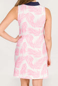 Addie Tunic Dress in Pink Palm