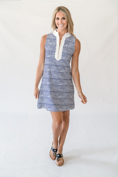 Addie Tunic Dress in Sailor Stripe