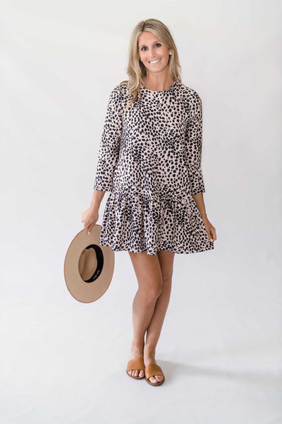 Caroline Dress in Beauty Spot
