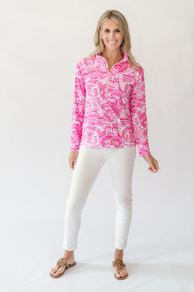 Charlie Pullover in Poolside Pink
