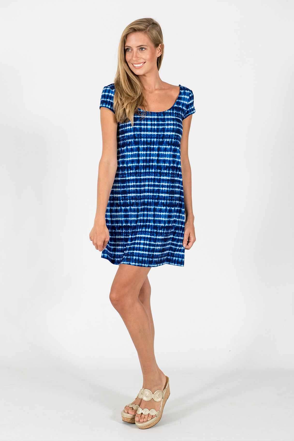 Twiggy Swing Dress in Shibori
