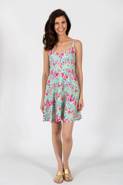 Lilly Fit & Flare Dress in Island Palms