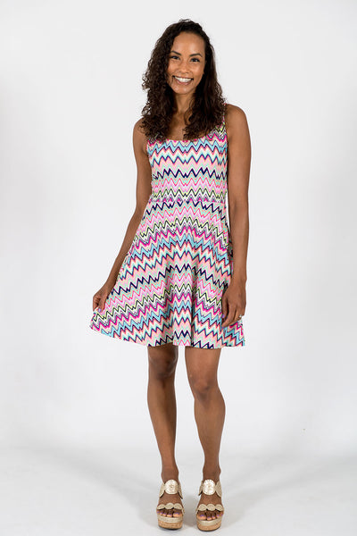 Lilly Fit & Flare Dress in Getting Ziggy With It Multi