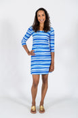 Darby Shift Dress in Euro Stripe