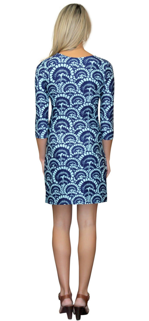 Kaeli Smith Darby Shift Dress in Flower Fantasy Blue XS-XL