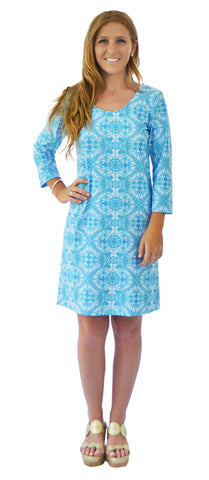 Sierra Shift Dress in Boho Geo