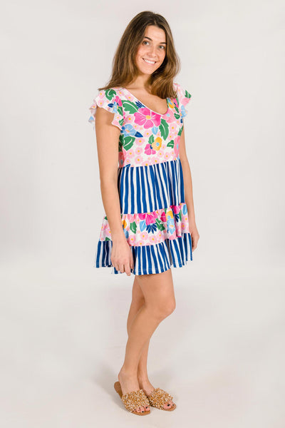 Delaney Tiered Dress in Bonita Bloom