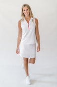 Kat Polo Top in Bright White