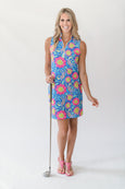 Katherine Classic Polo Dress in Lizard Love