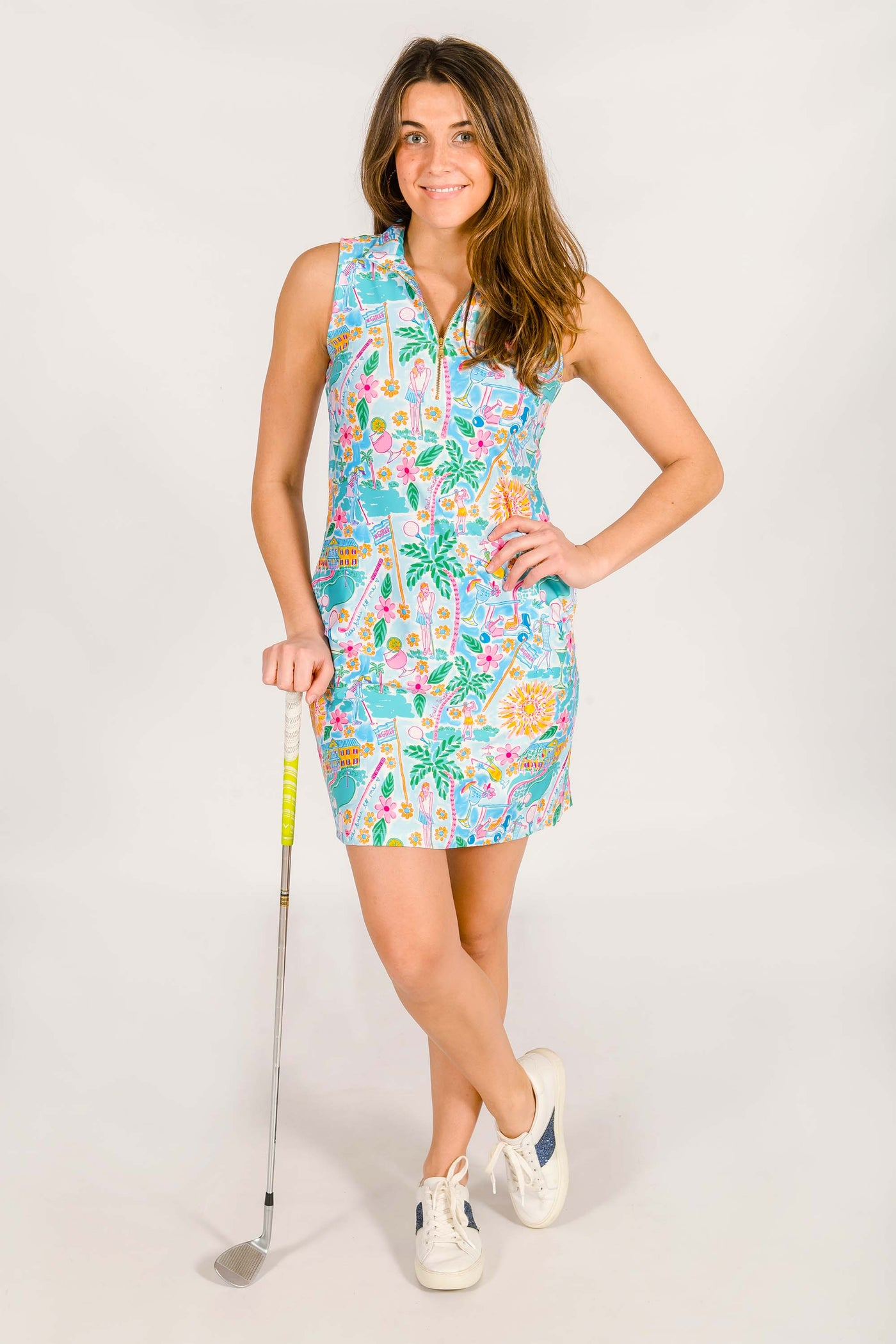 Katherine Classic Polo Dress in Talk Birdie To Me