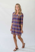 Luca Tunic Dress in Queen's Plaid