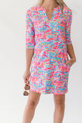 Luca Tunic Dress in Row Away Multi