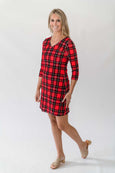 Lulu Dress in Christmas Plaid