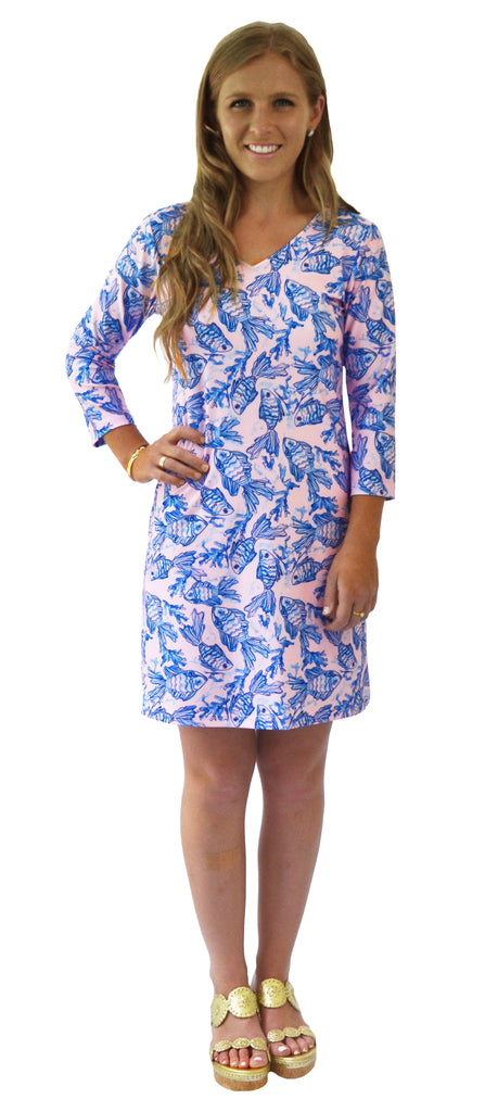 Lulu Shift Dress in Fiji Fins