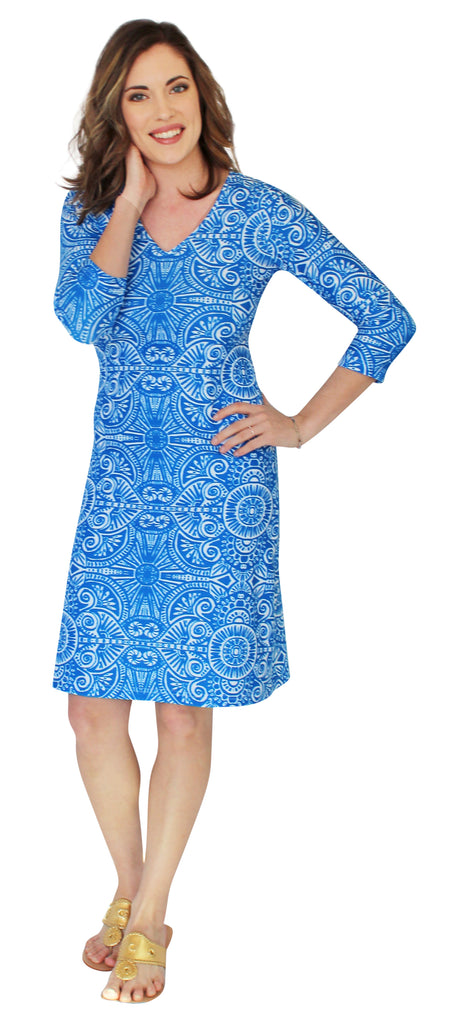 Lulu Long Shift Dress in Up Until Dawn (Final Sale)