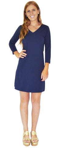 Sierra Shift Dress in Row Your Boat