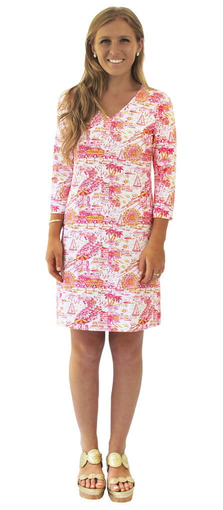 Lulu Shift Dress in Riviera Romance