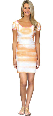 Jade Halter Dress in Sailor Stripe