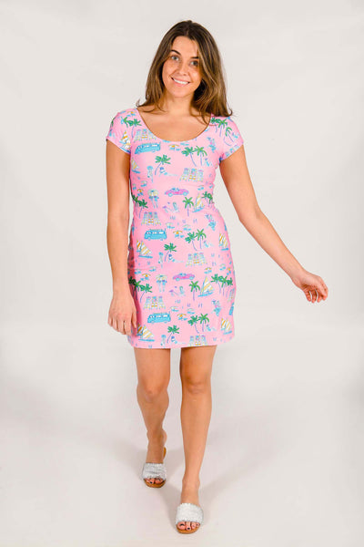 McKinley Shift Dress in Socialite Beach