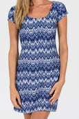McKinley Shift Dress in Getting Ziggy With It Navy
