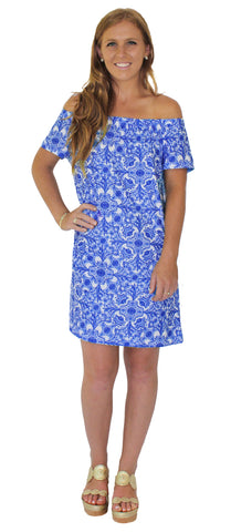 Lilly Fit & Flare Dress in Tropez Tranquil