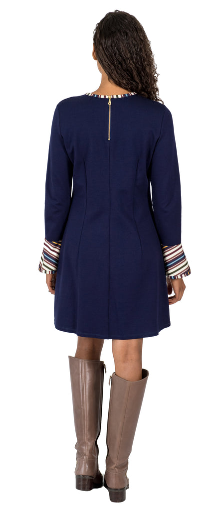 Natalie Dress in Navy Ponte (FINAL SALE)