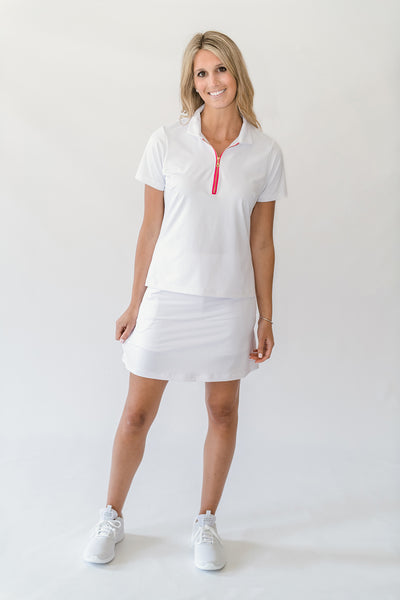 Nel Polo Top in Bright White