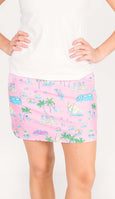 Quinn Golf Skort in Socialite Beach
