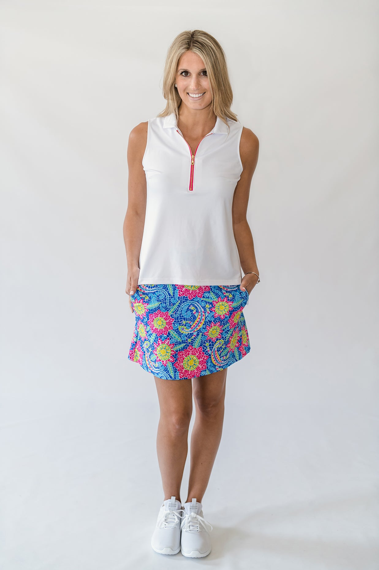 Quinn Golf Skort in Lizard Love